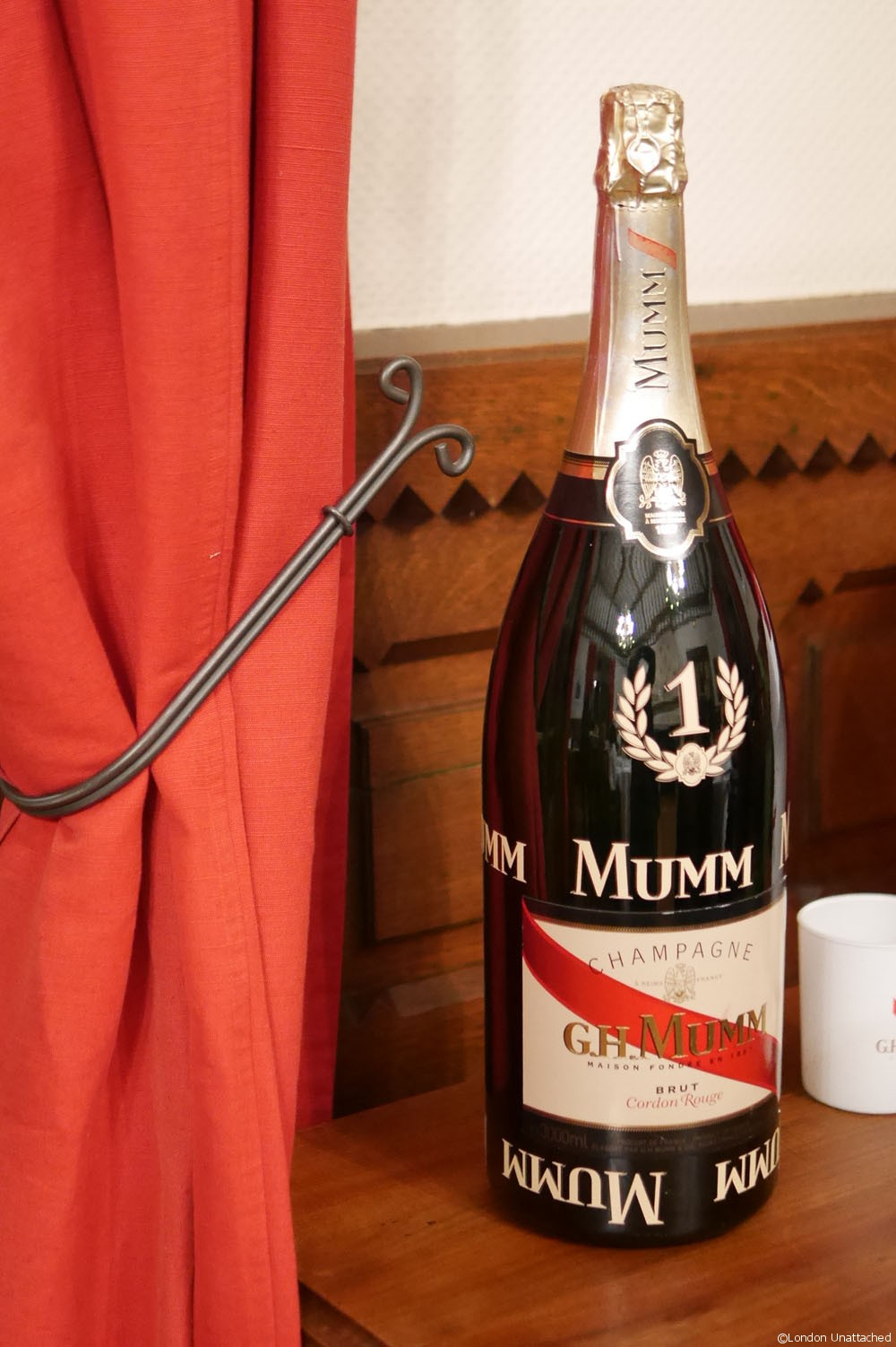 Mumm Champagne Bottle 4