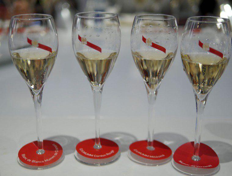 Mumm tasting the champagnes