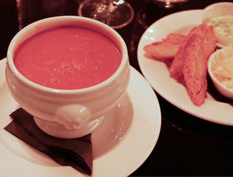 Plum and Spilt Milk Soup
