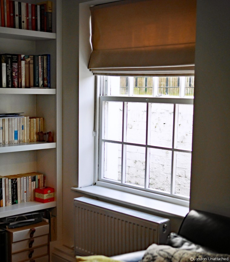 Study Window with Roman Blind