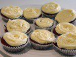 White Roses - Red Velvet Cake