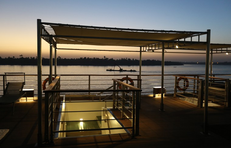 Oberoi Philae sundeck at night