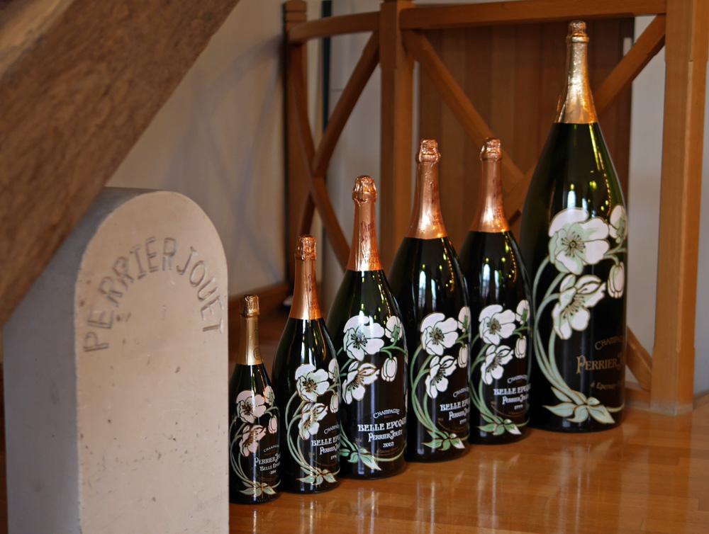 Perrier Jouet Belle Epoque Champagne bottles