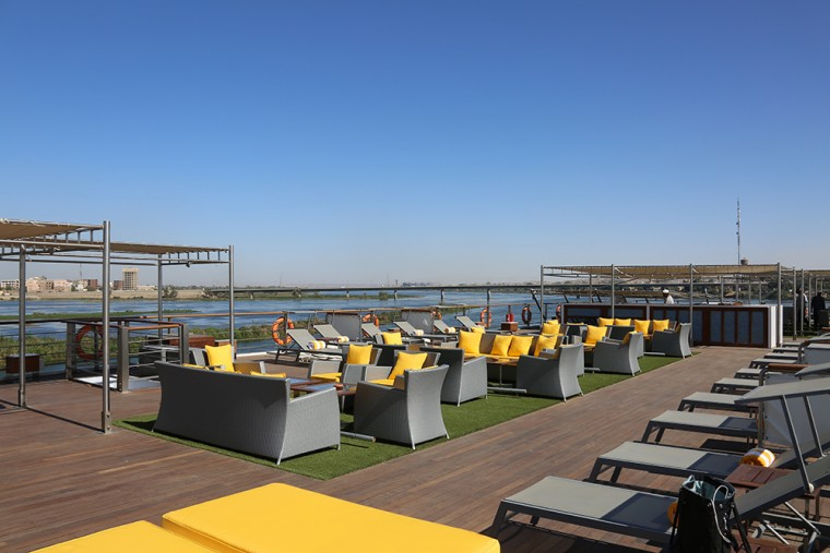Sundeck of the Oberoi Philae