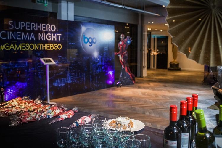 Superhero Cinema Night Foyer