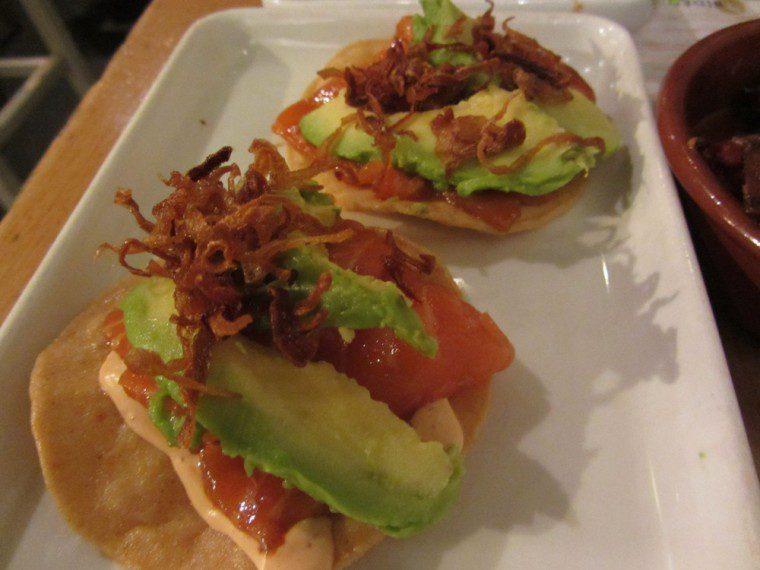 Wahaca - Salmon sashimi tostadas