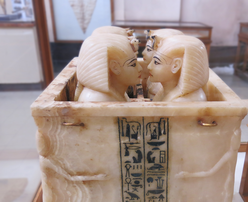 Alabaster Canopic box containing organs