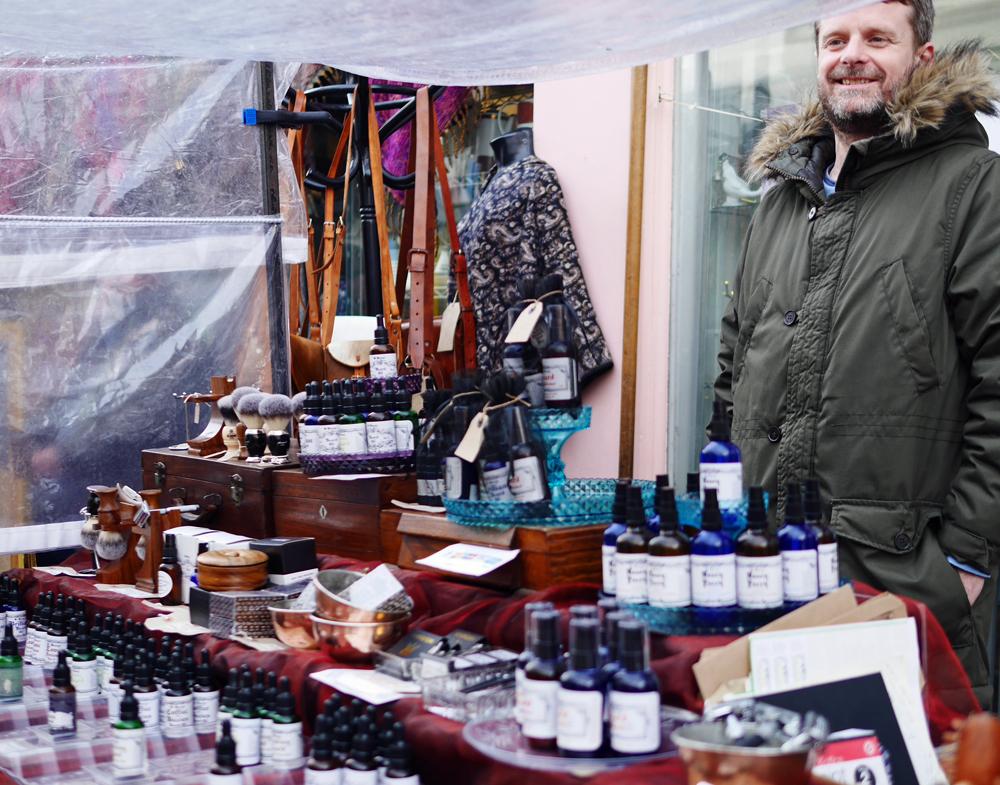 Beard oil seller