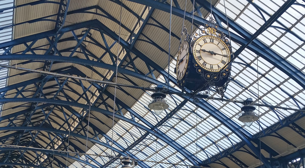 Clock Brighton Station