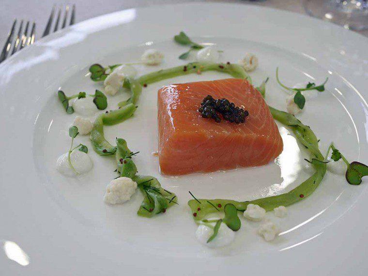 Confit Salmon by Raymond Blanc