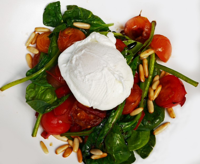 Dalloway Terrace Spinach and Egg Salad