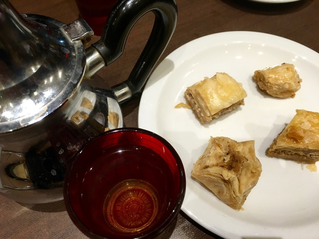 Karaam tea and baklava