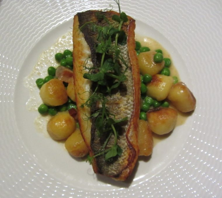 STK - sea bass and gnocchi