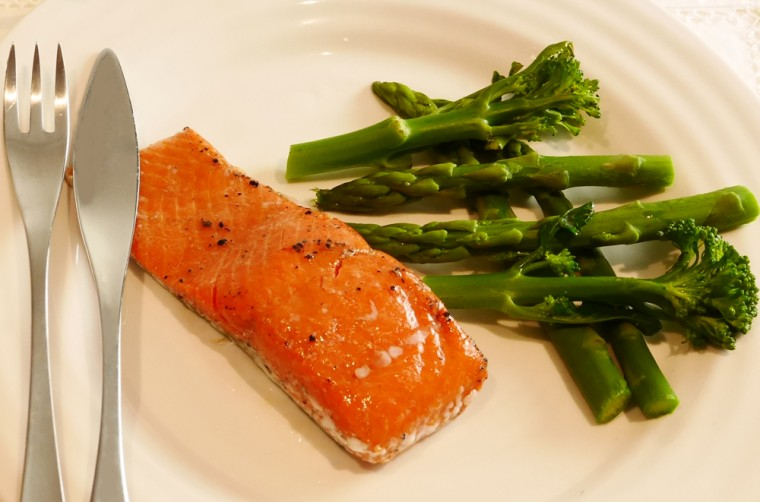 Sous Vide Salmon Close up