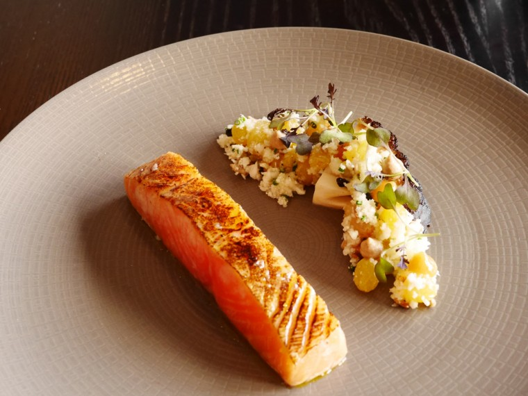 Torched Salmon - the Boathouse Henley