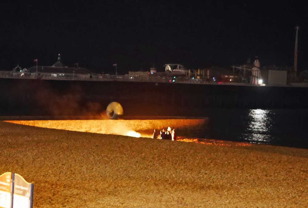Brighton Beach at Night