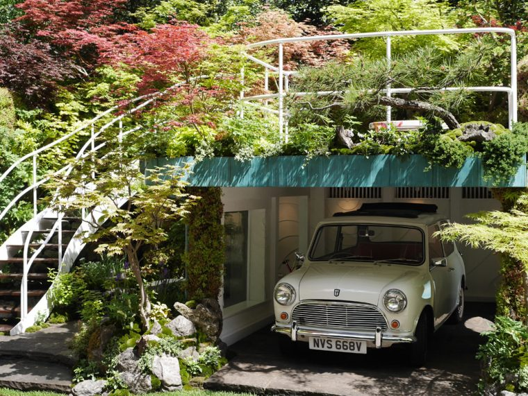 The Senri-Sentei - Garage Garden designed by Kazuyuki Ishihara - an inventive way to show how a little fauna can turn the most perfunctory spaces into an artistic masterpiece.