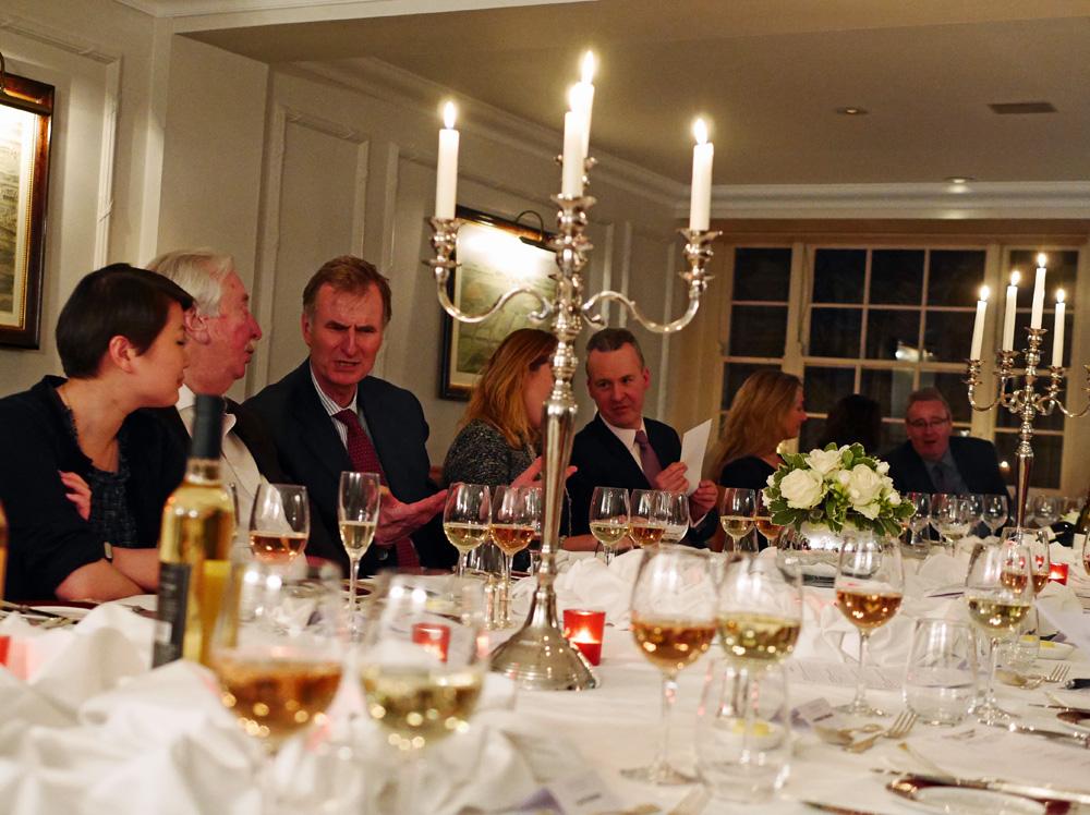 virginia wine dinner table