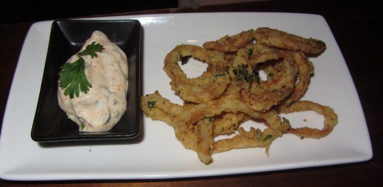 Anise - spiced calamari