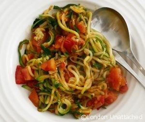 5:2 Courgetti with Buttered Tomatoes
