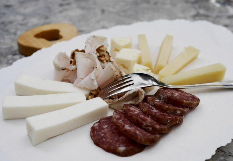 Garda Trentino Cheese and meats