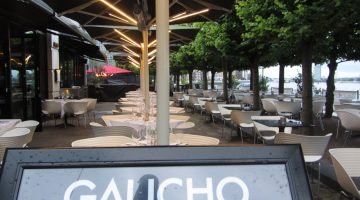 Tanqueray No. TEN on the Summer Citrus Terrace at Gaucho Canary Wharf
