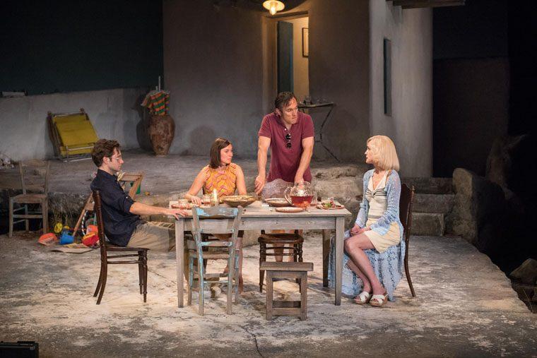Sam Crane, Pippa Nixon, Ben Miles and Elizabeth McGovern in Sunset at the Villa Thalia (c) Manuel Harlan