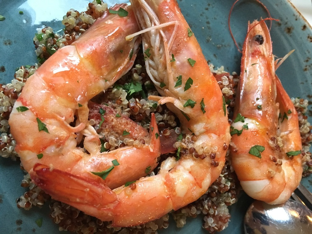 The Cavendish prawn quinoa