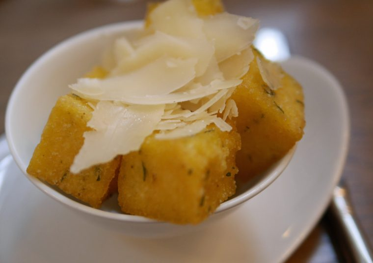 The Imperial truffle polenta cubes