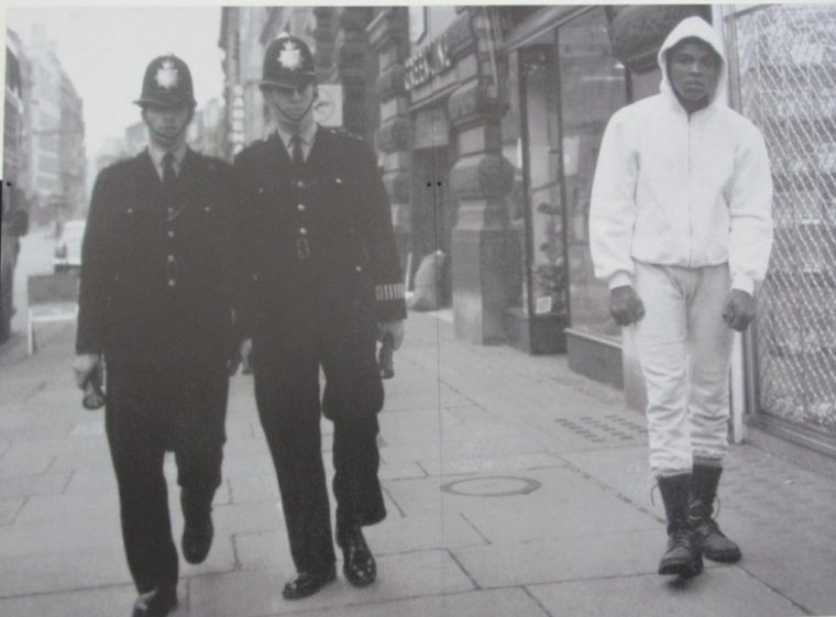 Ali Exhibition - with London bobbies