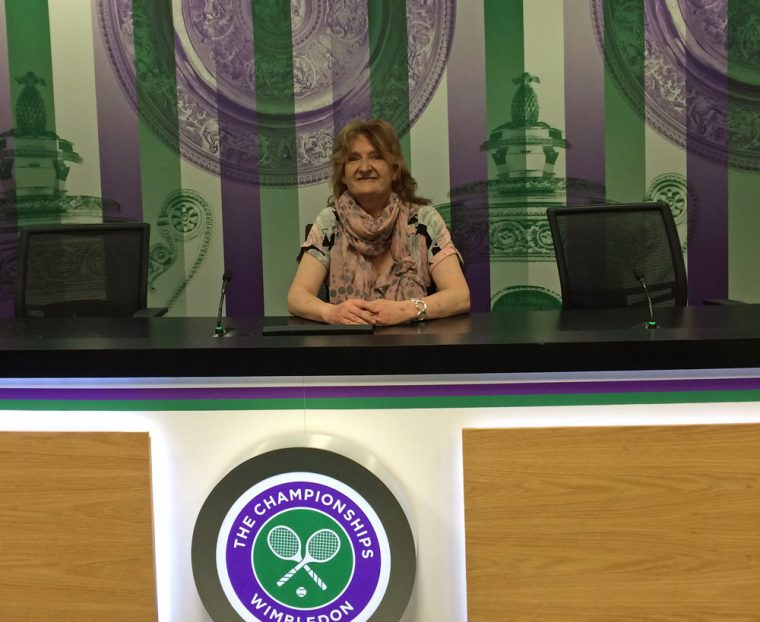 Sarah at Wimbledon