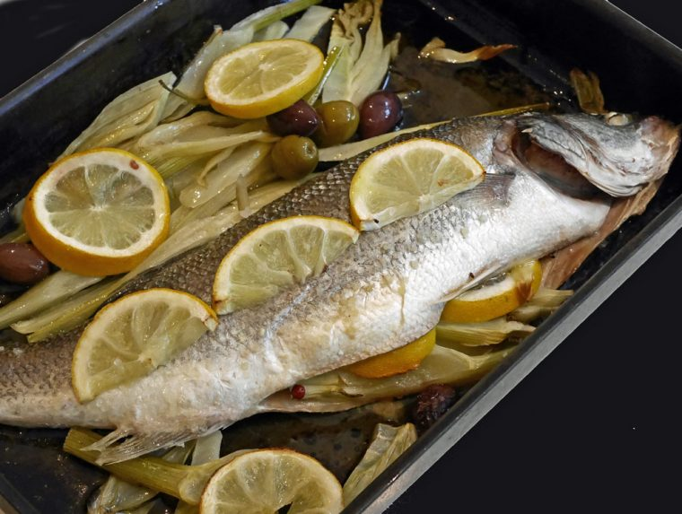 Sea Bass with Fennel Cooked