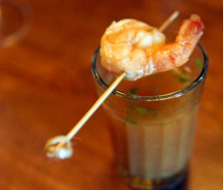Talli Joe Rasam Shrimp Shot