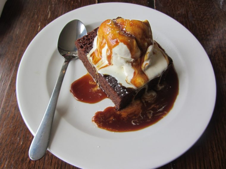 Trafalgar - sticky toffee pudding