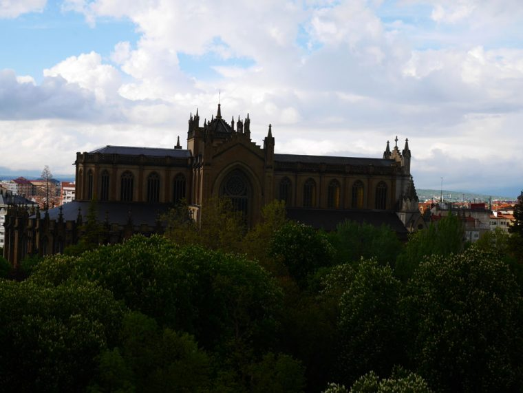 Vitoria-Gasteiz Cathedral from the distance