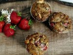 Strawberry Breakfast Muffins with White Chocolate