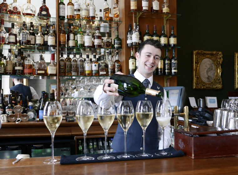 Champagne at the Merrion Hotel