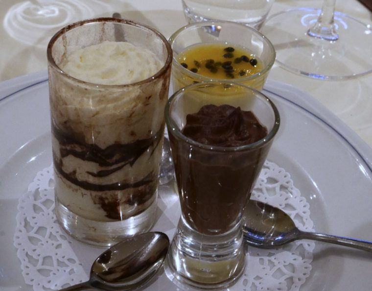 Gatti Trio of desserts