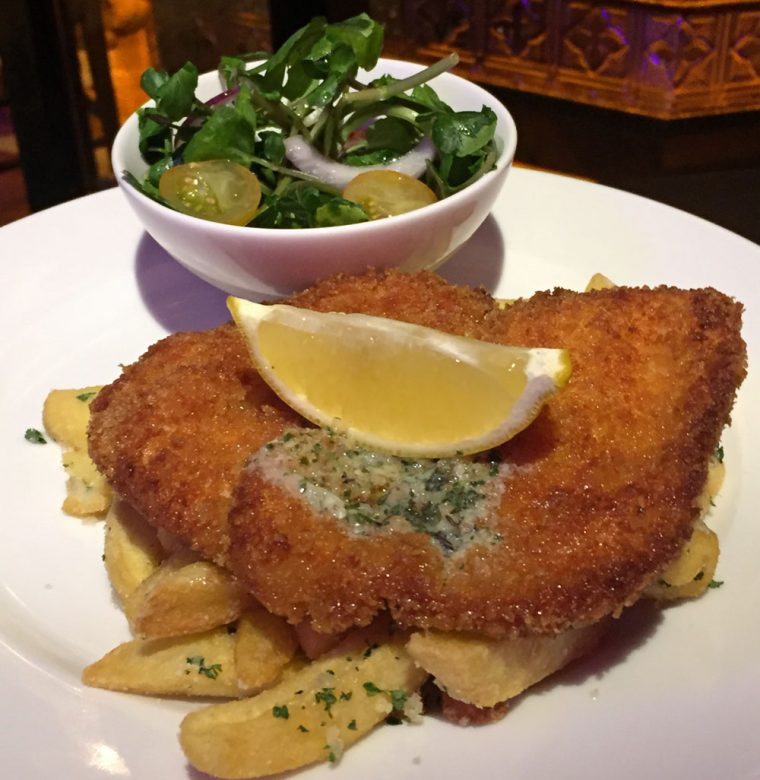 Lemon & Garlic Chicken Schnitzel