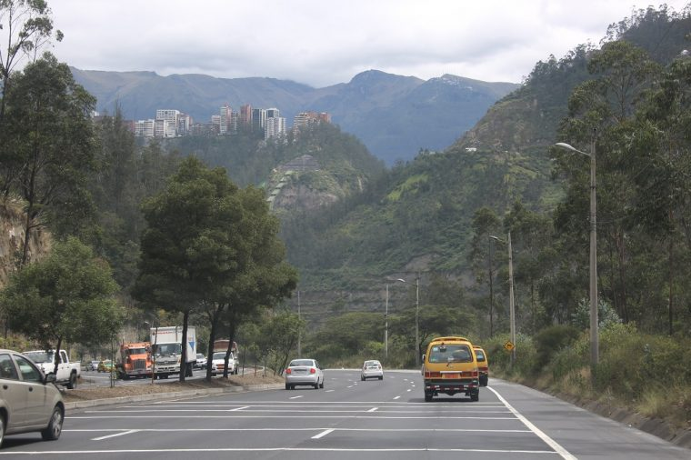 Quito Ecuador Roads View