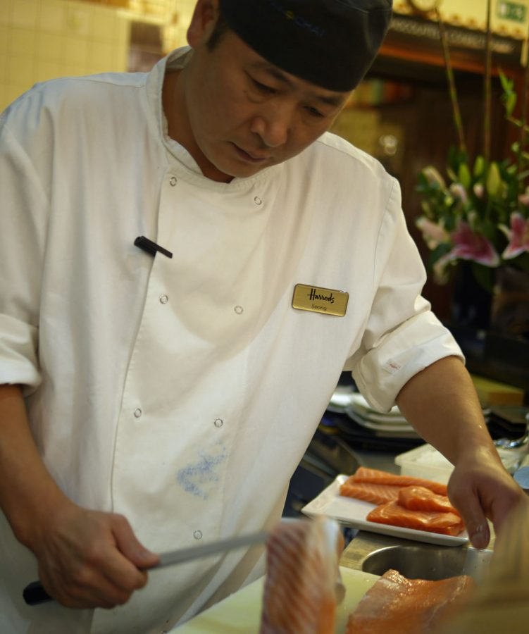 Sushi Chef at work, Pan Chai