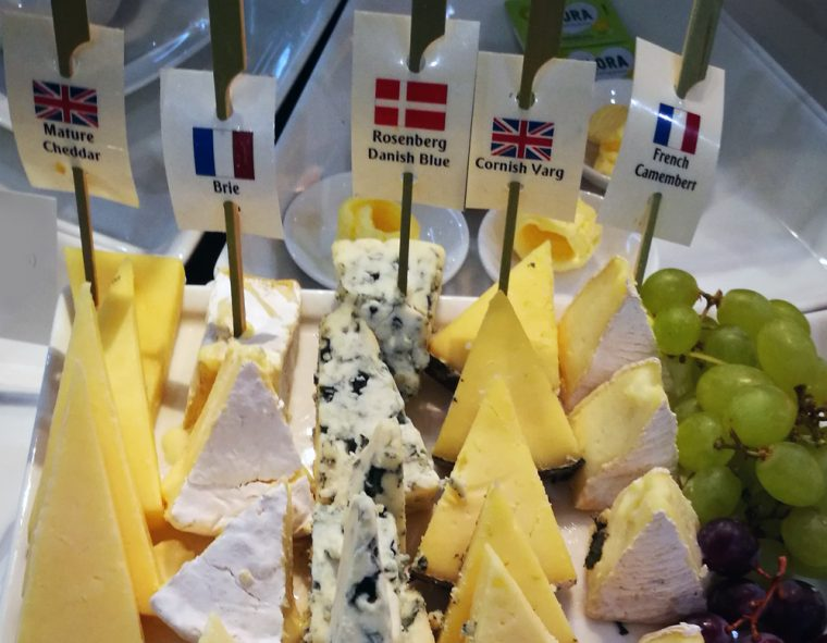 Cheese Selection in Emirates Lounge