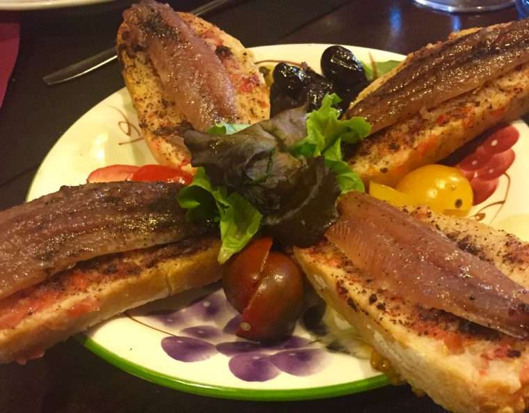 Catalan Anchovies on Tomato Toast
