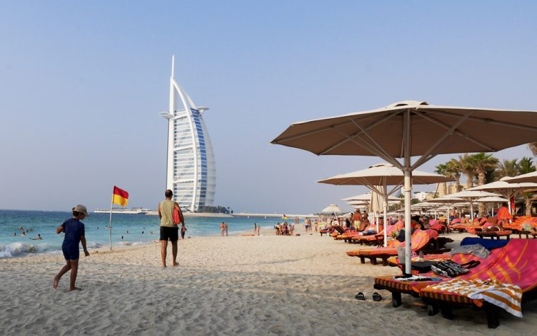 Title Beach Dubai Caption