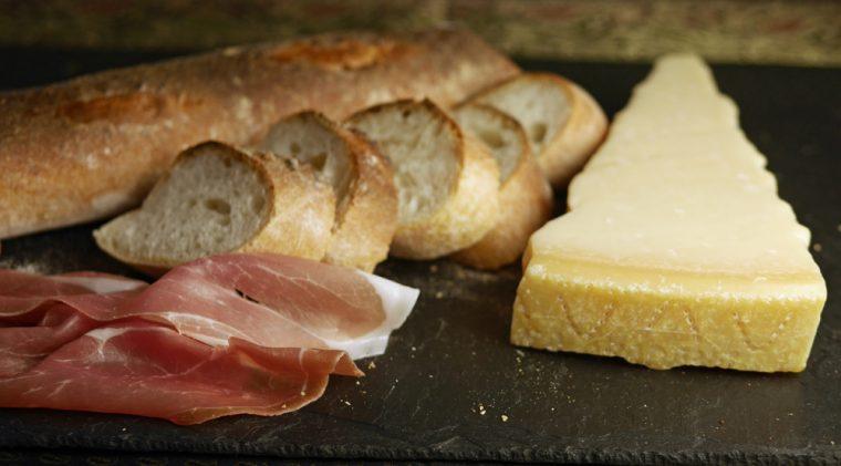Bread Grana Padano Cheese San Daniele Ham