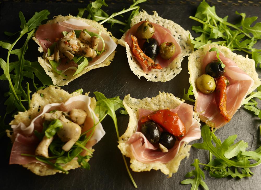 Easy canapes for the festive season with grana padano and for Prosciutto canape
