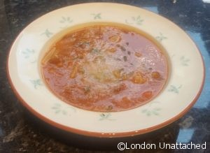 Pasta E Fagioli – pasta and beans soup from the Italian Embassy