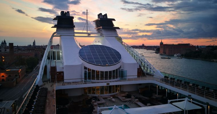 Arriving in Venice Seabourn Odyssey