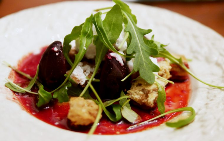 Beetroot and Goats Cheese Snow