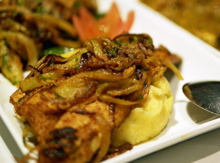 Coriander - fish and mash